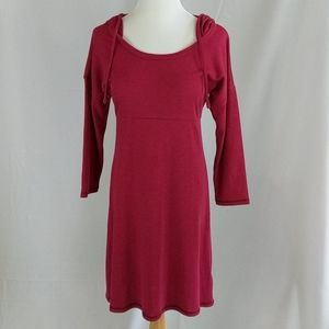 North face hooded long sleeve tunic dress